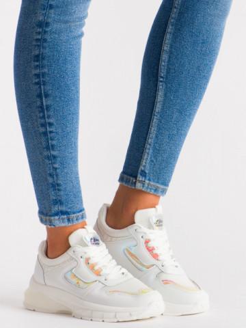 Pantofi sport cod 5821 White/Orange
