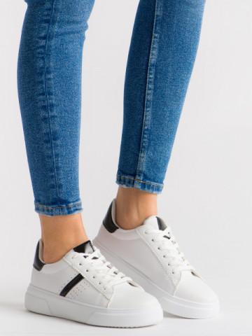 Pantofi sport cod 85-423 White/Black