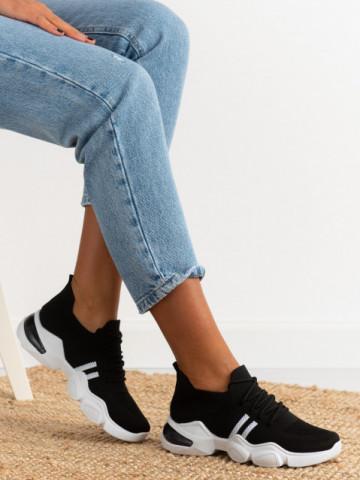 Pantofi sport cod 86002 Black/White
