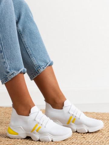 Pantofi sport cod 86002 White/Yellow