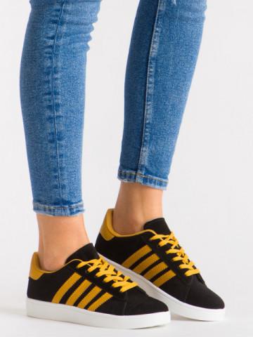 Pantofi sport cod A-5 Black/Yellow
