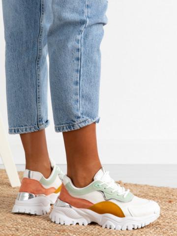 Pantofi sport cod AB855 White/Pink/Green