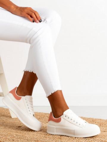 Pantofi sport cod B21-45C White/Pink