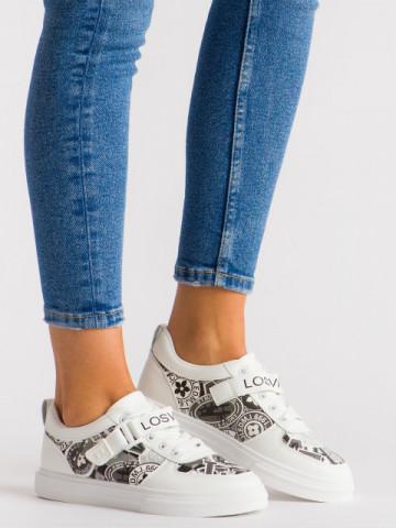 Pantofi sport cod B52 White/Black