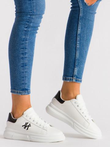 Pantofi sport cod B55 White/Black