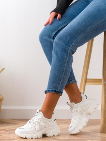 Pantofi sport cod BK05 White