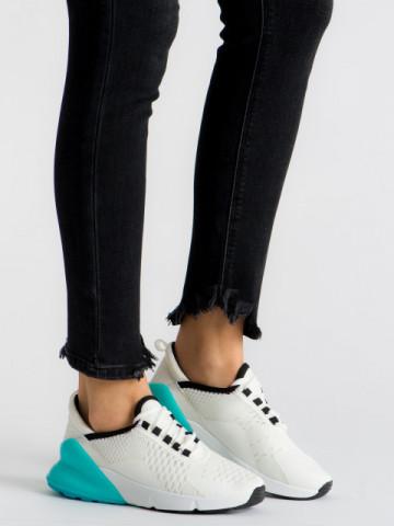 Pantofi sport cod J1812 White/Blue