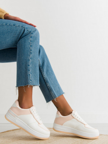 Pantofi sport cod J1850 White/Pink