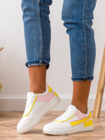 Pantofi sport cod K01 Yellow/Pink