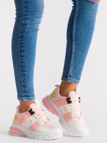 Pantofi sport cod LLS-004 White/Pink