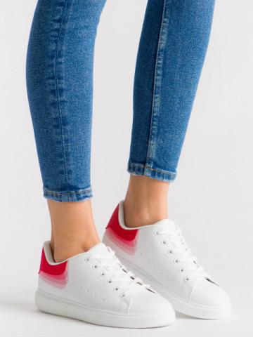 Pantofi sport cod R-686 White/Red
