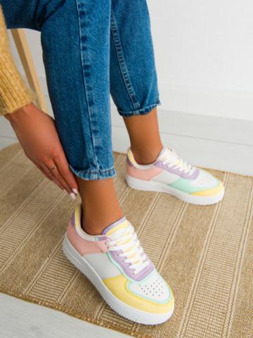 Pantofi sport cod R698 White/Pink