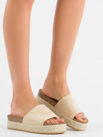Papuci cod 10-215 Beige