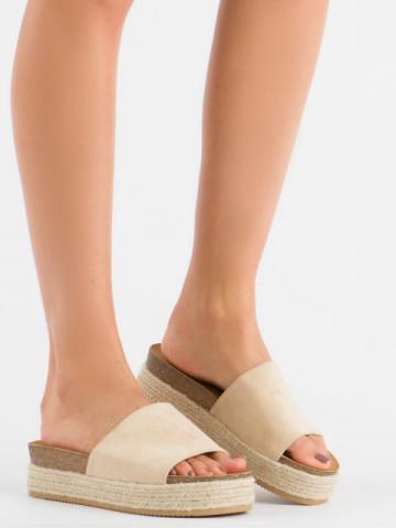 Papuci cod 10-215 Beige