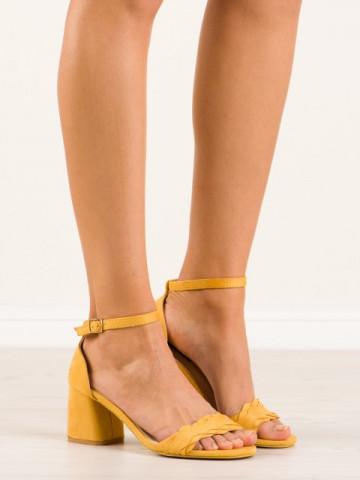 Sandale cu toc 6268-26 Yellow