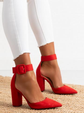 Sandale cu toc cod 421 Red
