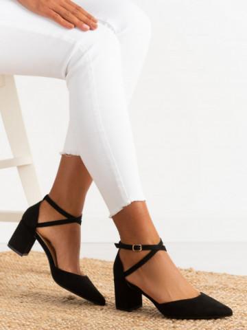 Sandale cu toc cod 6361 Black