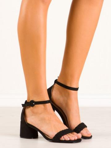 Sandale cu toc cod 9247-1 Black