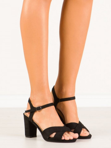 Sandale cu toc cod 955-48 Black