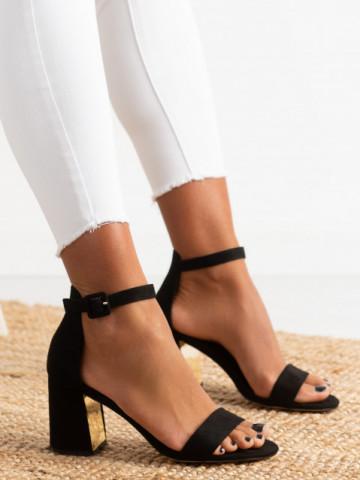 Sandale cu toc cod EK0056 Black