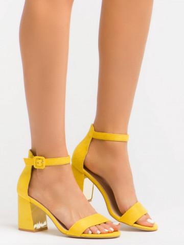 Sandale cu toc cod EK0056 Yellow