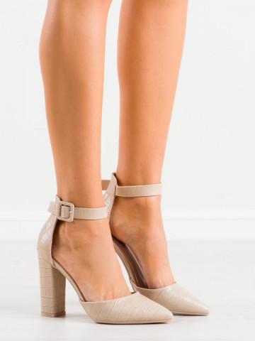 Sandale cu toc cod GG90 Beige