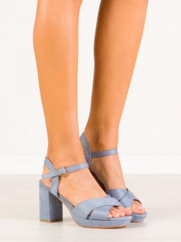 Sandale cu toc cod HJ104 Blue