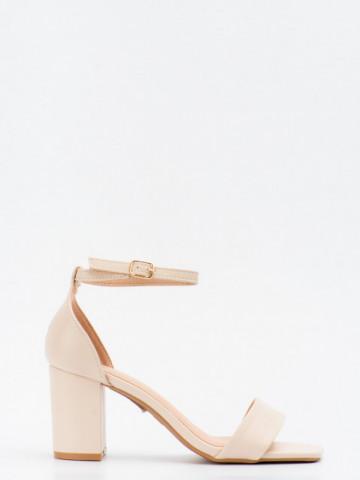 Sandale cu toc cod LL245 Beige