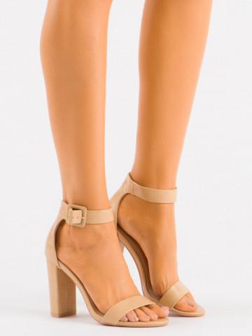 Sandale cu toc cod LU0027 Beige