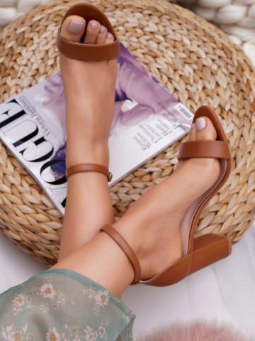 Sandale cu toc cod NF60 Camel