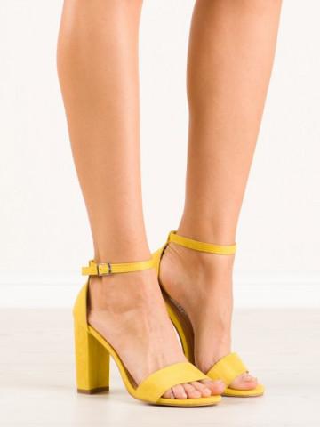Sandale cu toc cod OD0311 Yellow