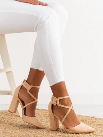 Sandale cu toc cod SY55 Beige