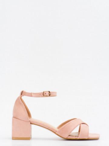 Sandale cu toc cod T382 Pink
