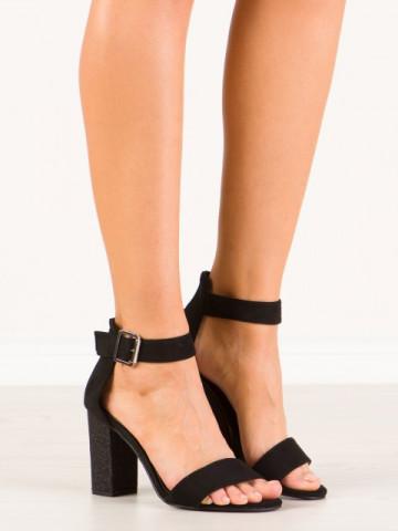 Sandale cu toc cod SH869 Black/Black