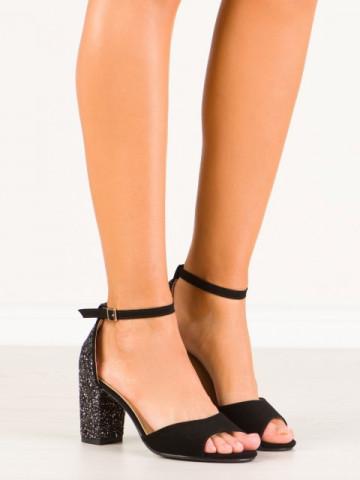 Sandale cu toc cod QZL255B Gold