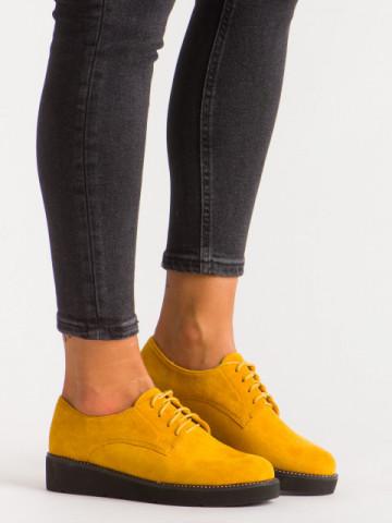 Pantofi casual cod 930-19 Yellow