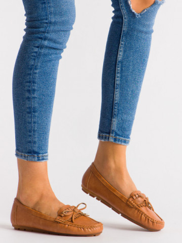 Pantofi casual cod 9F182 Camel