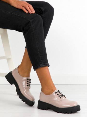 Pantofi casual cod KM16-19 Beige