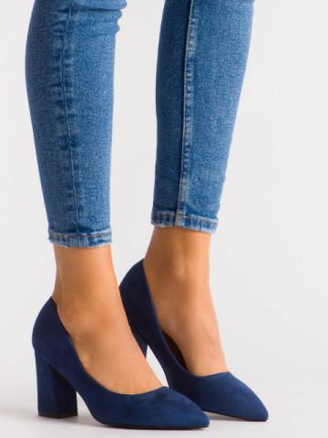 Pantofi cu toc cod 030-22 Blue