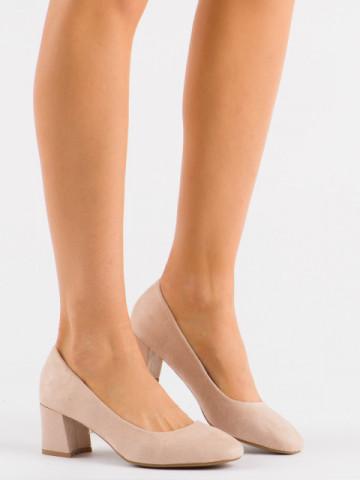 Pantofi cu toc cod 3132 Beige