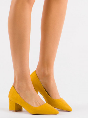 Pantofi cu toc cod 3837-1Y Yellow