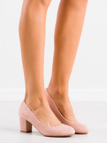 Pantofi cu toc cod 8990 Pink