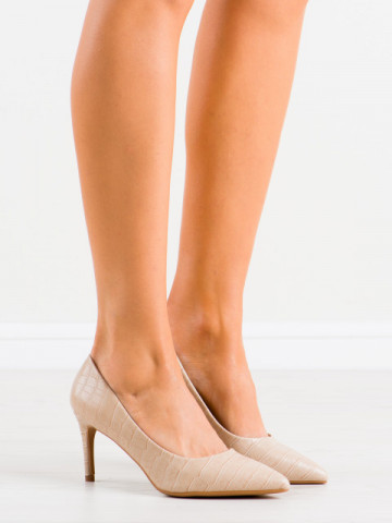 Pantofi cu toc cod CD60 Beige