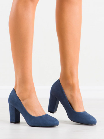 Pantofi cu toc cod DH01 Blue
