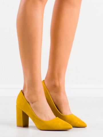 Pantofi cu toc cod DH03 Yellow