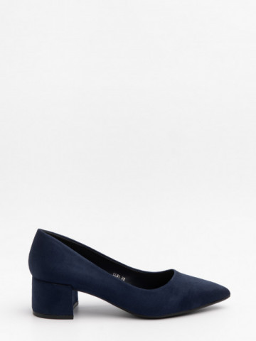 Pantofi cu toc cod LL81 Blue