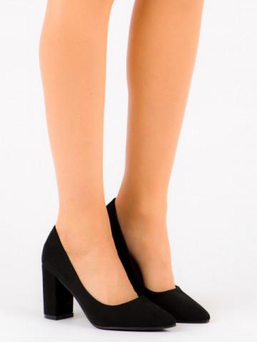 Pantofi cu toc cod P-6719 Black
