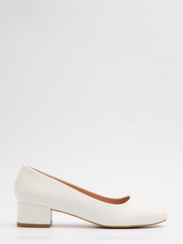 Pantofi cu toc cod X21-735 White