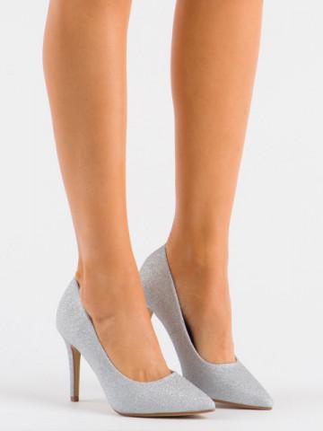 Pantofi cu toc cod XKK250A Silver