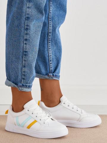 Pantofi sport cod 1210-6 White/Yellow